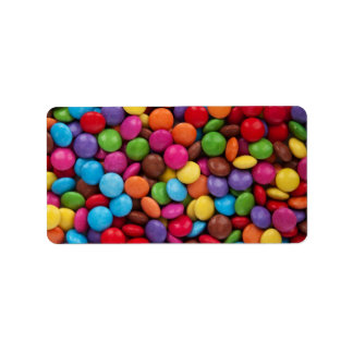 Colorful Chocolate Candy Label