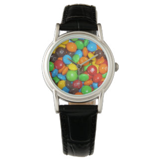 Colorful_Chocolate_Candy_Ladies_Leather_Watch. Relojes De Pulsera
