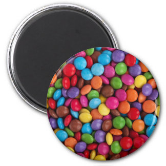 Colorful Chocolate Candy 2 Inch Round Magnet
