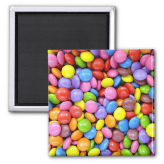 Colorful Chocolate Candy Pattern Magnet