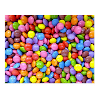Colorful Chocolate Candy Pattern Postcard