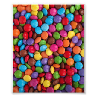 Colorful Chocolate Candy Photo Art