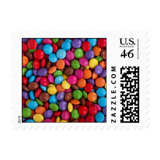 Colorful Chocolate Candy Stamp