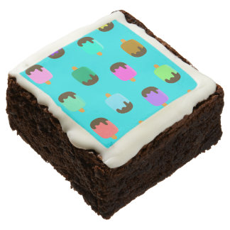 Colorful Chocolate covered ice pop brownie