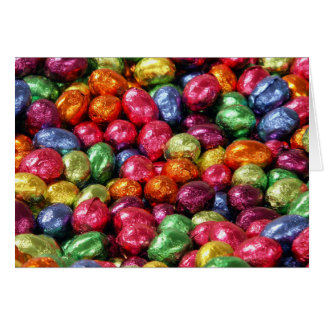 Colorful Chocolate Easter Eggs Card