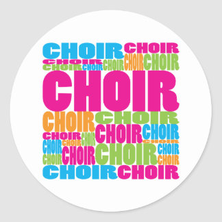 Colorful Choir Classic Round Sticker