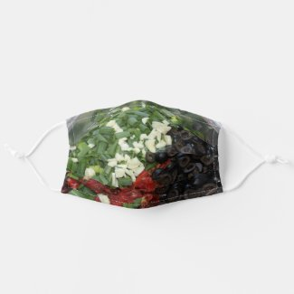Colorful chopped Food Cloth Face Mask
