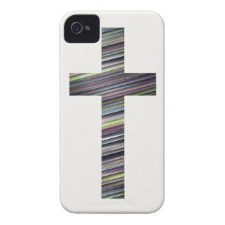 Colorful Christian Cross 2 iPhone 4 Case-Mate Case