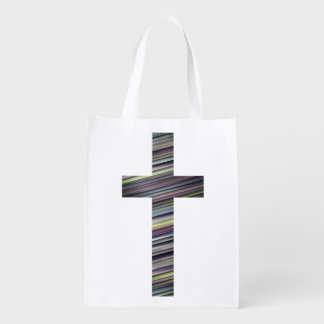 Colorful Christian Cross 2 Market Totes