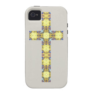 Colorful Christian Cross 3 iPhone 4 Cover