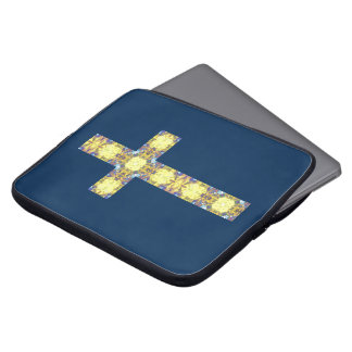 Colorful Christian Cross 3 Laptop Computer Sleeves