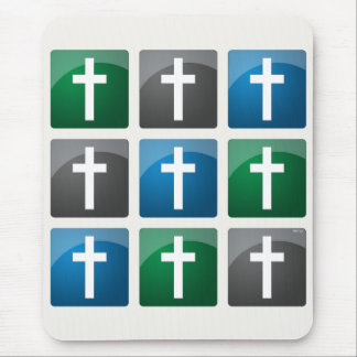 Colorful Christian Crosses Mouse Pad