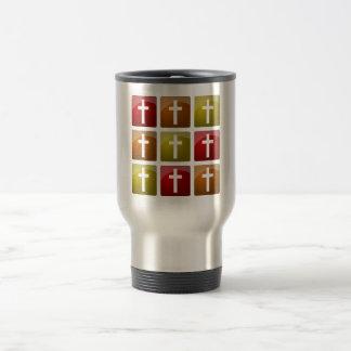 Colorful Christian Crosses Travel Mug
