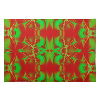 Colorful Christmas Abstract Placemat