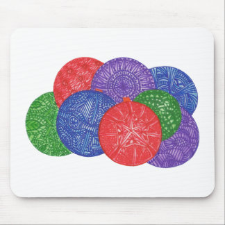 Colorful Christmas balls abstract mousepads