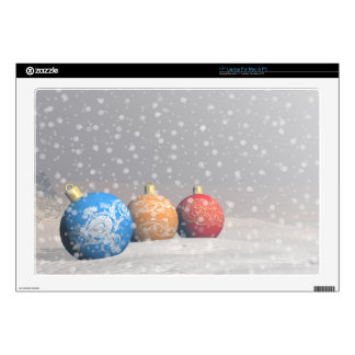 Colorful Christmas balls Decal For Laptop