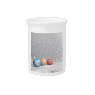 Colorful Christmas balls Drink Pitcher