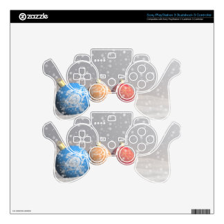 Colorful Christmas balls PS3 Controller Skin