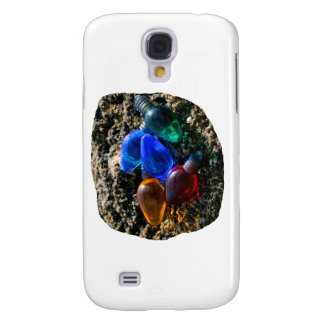 Colorful Christmas Bulbs in Beach Sand Photograph Samsung Galaxy S4 Covers