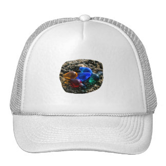 Colorful Christmas Bulbs in Beach Sand Photograph Trucker Hat