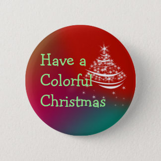 Colorful Christmas Button