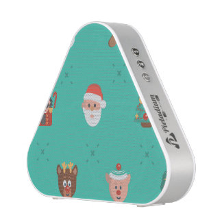 Colorful Christmas Characters Seamless Pattern Bluetooth Speaker