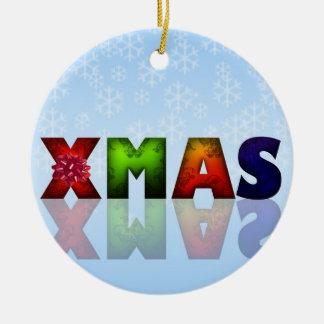 Colorful Christmas Design Ceramic Ornament