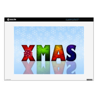 """Colorful Christmas Design Decal For 15"""" Laptop"""