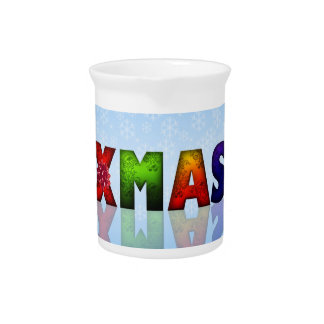 Colorful Christmas Design Drink Pitchers