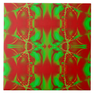 Colorful Christmas Fractal Design Tiles