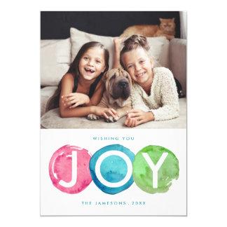 Colorful Christmas Holiday Photo Card