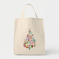 Colorful Christmas Holiday Tree Tote Bag