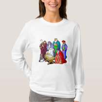 Colorful Christmas Nativity Scene T-Shirt
