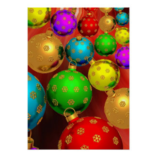 Colorful Christmas Ornament Jamboree Poster