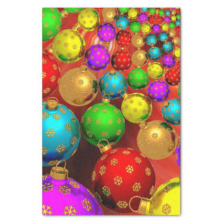 """Colorful Christmas Ornament Jubilee 10"""" X 15"""" Tissue Paper"""
