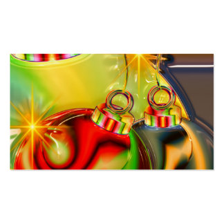 Colorful Christmas Ornament Mirrored Decoration Business Card