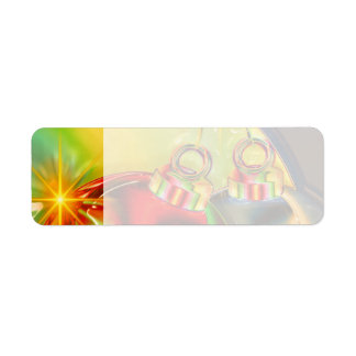Colorful Christmas Ornament Mirrored Decoration Label