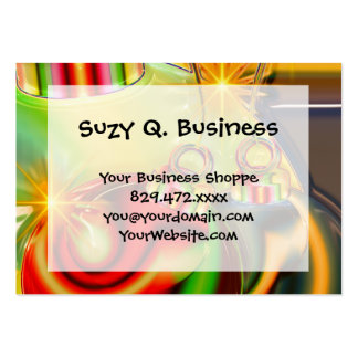 Colorful Christmas Ornament Mirrored Decoration Large Business Card