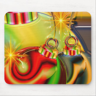 Colorful Christmas Ornament Mirrored Decoration Mouse Pad