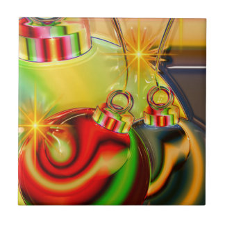 Colorful Christmas Ornament Mirrored Decoration Tiles