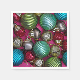 Colorful christmas ornaments paper napkin