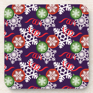Colorful Christmas Pattern Beverage Coaster