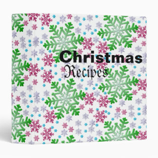Colorful Christmas Recipe Binder