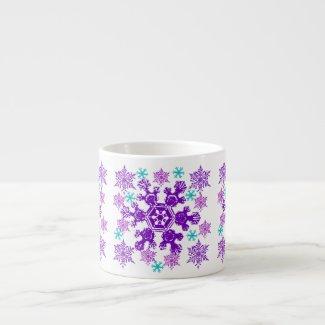 Colorful Christmas Snowflake Espresso Cup specialtymug