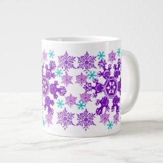 Colorful Christmas Snowflake Jumbo Cup specialtymug
