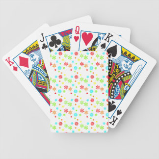 Colorful Christmas Snowflakes Card Decks
