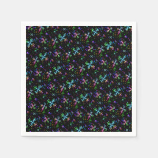 Colorful Christmas Snowflakes Paper Napkins
