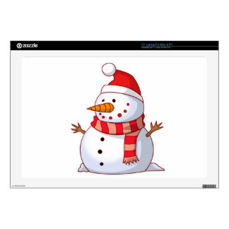 Colorful Christmas Snowman Skin For Laptop