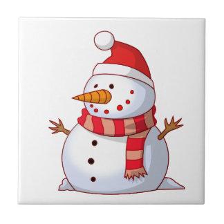 Colorful Christmas Snowman Ceramic Tiles