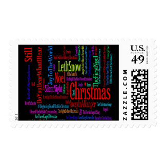 Colorful Christmas Songs Stamps